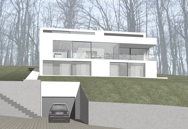 haus am hang peter bastian architekten bda. Black Bedroom Furniture Sets. Home Design Ideas